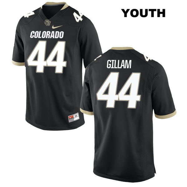Addison Gillam Youth Black Colorado Buffaloes Authentic Nike Stitched no. 44 College Football Game Jersey - Addison Gillam Jersey