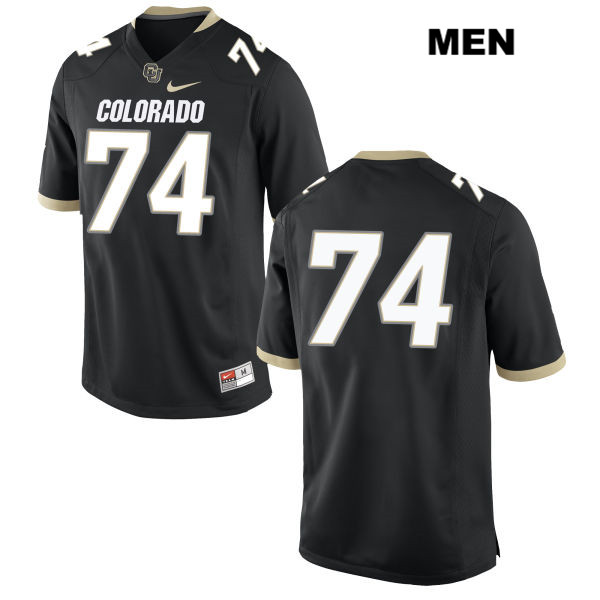 Alex Kelley Nike Mens Black Stitched Colorado Buffaloes Authentic no. 74 College Football Game Jersey - No Name - Alex Kelley Jersey