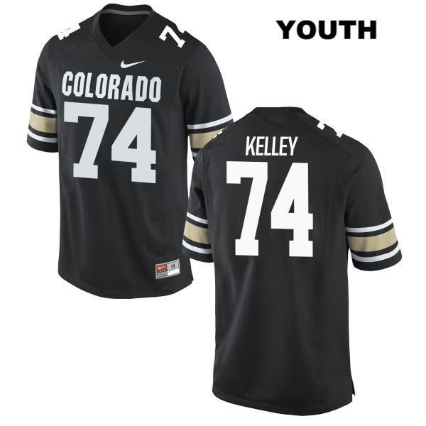 Alex Kelley Youth Stitched Black Colorado Buffaloes Nike Authentic no. 74 College Football Jersey - Alex Kelley Jersey