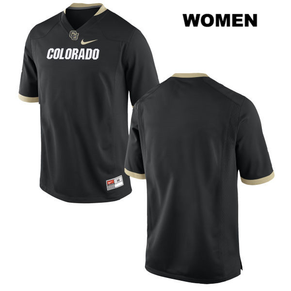 Stitched Blank Womens Black Nike Colorado Buffaloes Authentic blank College Football Game Jersey - Blank Jersey