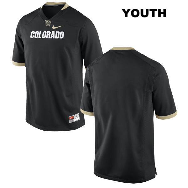 Blank Youth Nike Black Colorado Buffaloes Stitched Authentic blank College Football Game Jersey - Blank Jersey