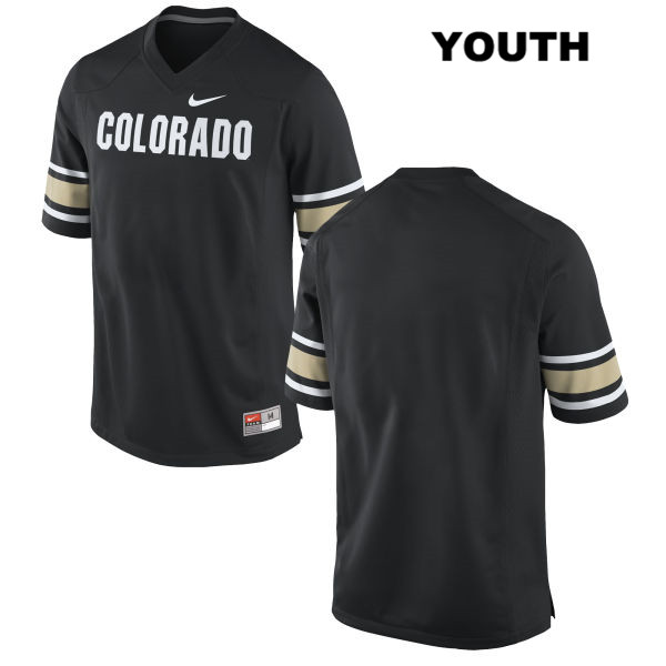 Blank Nike Youth Black Colorado Buffaloes Authentic Stitched blank College Football Jersey - Blank Jersey