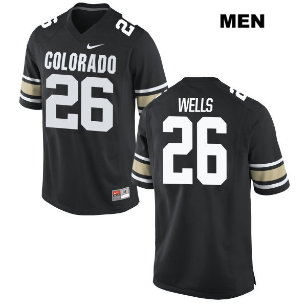Carson Wells Nike Mens Black Colorado Buffaloes Stitched Authentic no. 26 College Football Jersey - Carson Wells Jersey