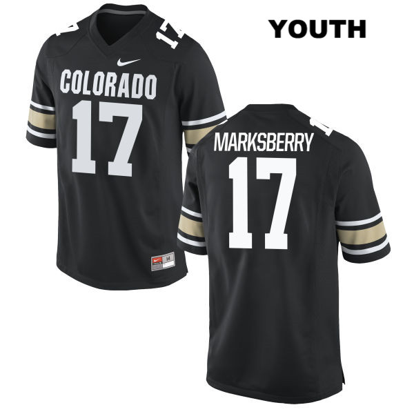 Casey Marksberry Youth Black Colorado Buffaloes Stitched Nike Authentic no. 17 College Football Jersey - Casey Marksberry Jersey