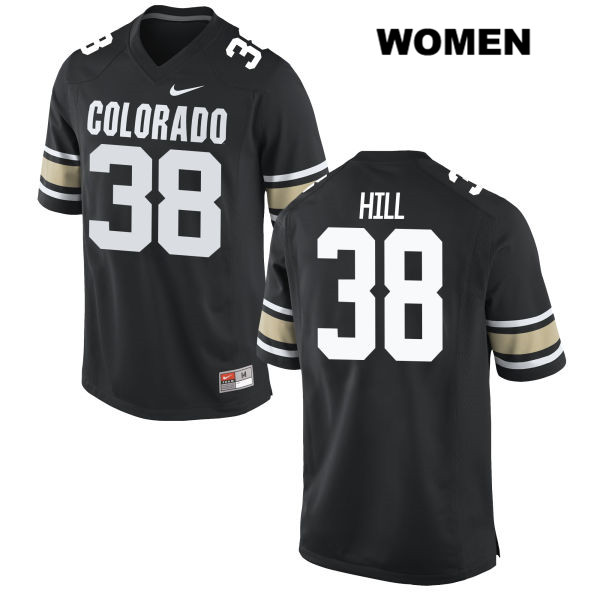 Chris Hill Womens Black Stitched Colorado Buffaloes Nike Authentic no. 38 College Football Jersey - Chris Hill Jersey