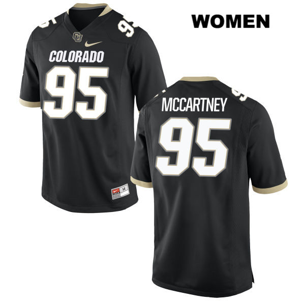 Derek McCartney Womens Black Stitched Colorado Buffaloes Authentic Nike no. 95 College Football Game Jersey - Derek McCartney Jersey