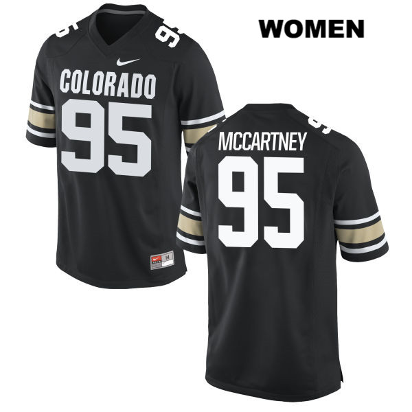 Stitched Derek McCartney Womens Black Colorado Buffaloes Nike Authentic no. 95 College Football Jersey - Derek McCartney Jersey