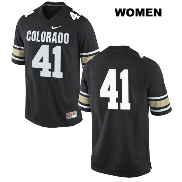 Devin Lynch Nike Womens Black Stitched Colorado Buffaloes Authentic no. 41 College Football Jersey - No Name - Devin Lynch Jersey