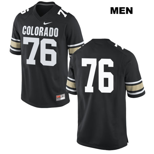 Nike Frank Fillip Stitched Mens Black Colorado Buffaloes Authentic no. 76 College Football Jersey - No Name - Frank Fillip Jersey