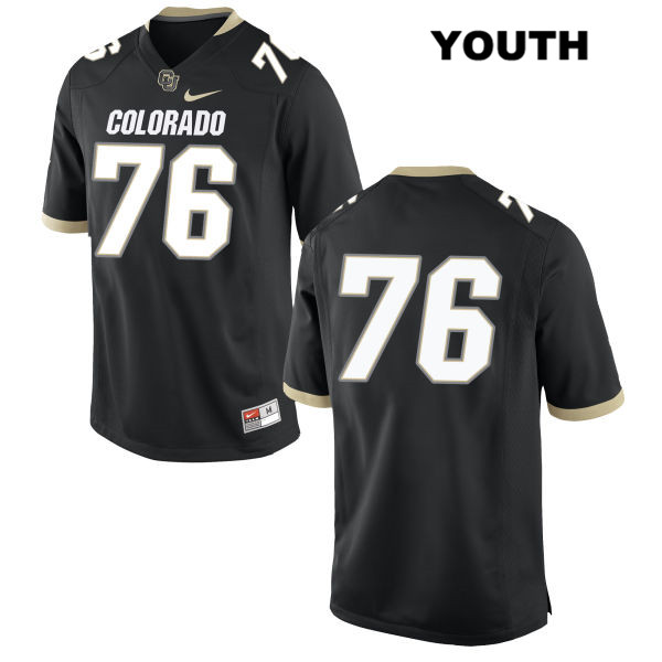 Frank Fillip Youth Stitched Black Colorado Buffaloes Nike Authentic no. 76 College Football Game Jersey - No Name - Frank Fillip Jersey