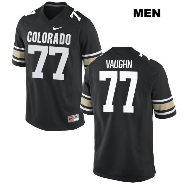 Hunter Vaughn Mens Nike Black Colorado Buffaloes Authentic Stitched no. 77 College Football Jersey - Hunter Vaughn Jersey