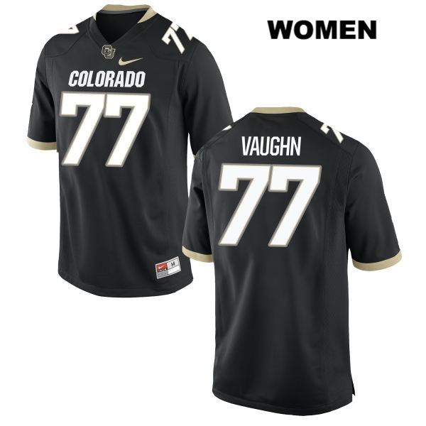 Hunter Vaughn Nike Womens Black Colorado Buffaloes Stitched Authentic no. 77 College Football Game Jersey - Hunter Vaughn Jersey
