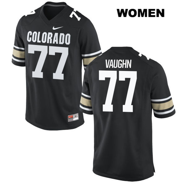 Hunter Vaughn Stitched Womens Black Colorado Buffaloes Nike Authentic no. 77 College Football Jersey - Hunter Vaughn Jersey
