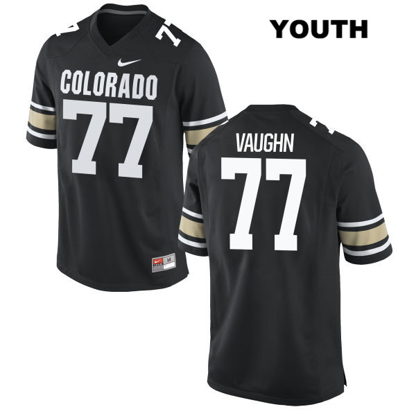 Hunter Vaughn Nike Youth Black Colorado Buffaloes Authentic Stitched no. 77 College Football Jersey - Hunter Vaughn Jersey