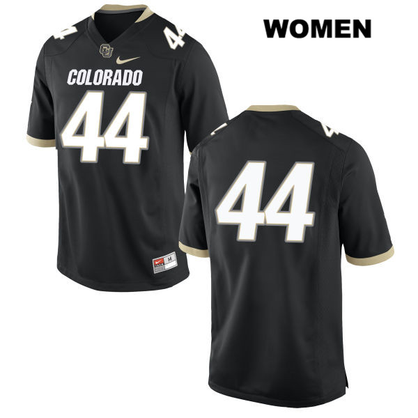 Nike Jacob Callier Womens Stitched Black Colorado Buffaloes Authentic no. 44 College Football Game Jersey - No Name - Jacob Callier Jersey