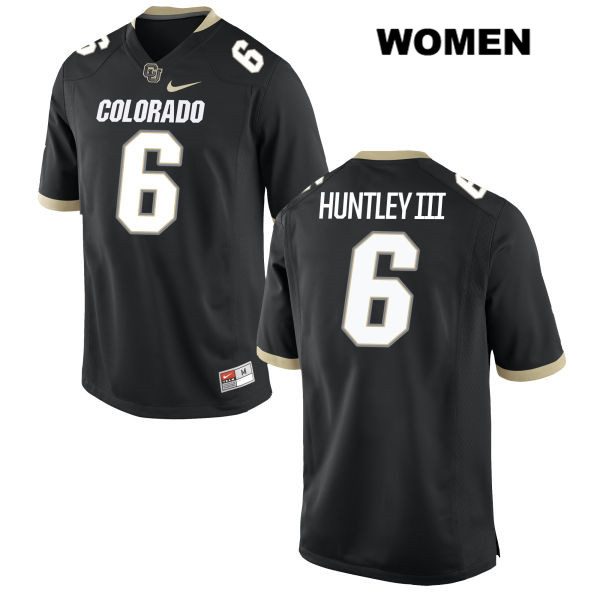 Nike Johnny Huntley III Stitched Womens Black Colorado Buffaloes Authentic no. 6 College Football Game Jersey - Johnny Huntley III Jersey