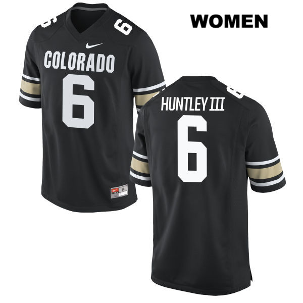 Johnny Huntley III Stitched Womens Black Colorado Buffaloes Nike Authentic no. 6 College Football Jersey - Johnny Huntley III Jersey