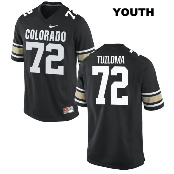 Lyle Tuiloma Youth Black Colorado Buffaloes Nike Authentic Stitched no. 72 College Football Jersey - Lyle Tuiloma Jersey