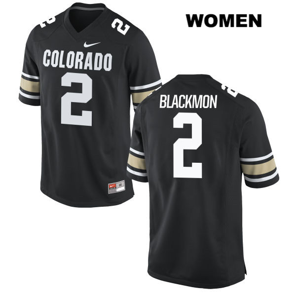 Nike Ronnie Blackmon Womens Black Colorado Buffaloes Stitched Authentic no. 2 College Football Jersey - Ronnie Blackmon Jersey